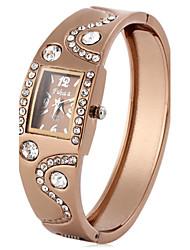 Fuhua 695 Female Diamond Quartz Bracelet Watch with Rectangle Dial Cool Watches Unique Watches