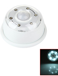 Zweihnder®Super Bright 260LM 6 LED White Light Wireless Auto PIR Motion Sensor Light - White