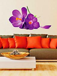 Romantic Purple Dream Morning Glory Wall Stickers