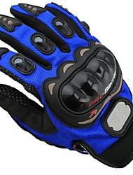 Buitensporten Full Finger Ridder Motorfiets Handschoenen Rijden 3d Ademend Mesh Stof Mannen Lederen Handschoenen