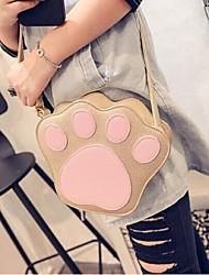Women PU Sling Bag Shoulder Bag - Gold / Gray / Black