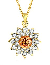 Necklace Pendant Necklaces Jewelry Wedding / Party / Daily Zircon / Copper / Gold Plated / Rose Gold Plated Gold / Rose Gold 1pc Gift