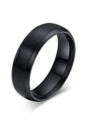 Wholesale Blue / Black 316l Stainless Steel Rings for Men Women Classic Wedding Ring Satin Finish Jewelry R-014