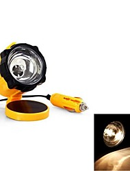 Yellow Emergency DC 12V Retractable Cable Working Light Lamp for Car internal