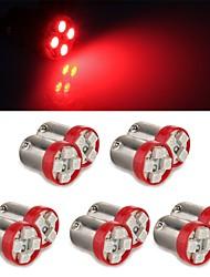 10 * 1156 bas9 cor vermelha 4 0.2W levou para o reverso de backup turno lâmpada luz bulbo foglight