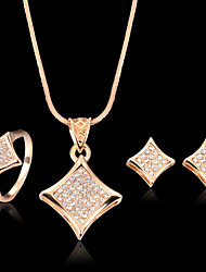 May Polly Hot micro inlay zircon necklace earrings set