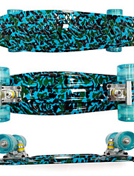 PP Plastic Skateboard (22 Inch) Cruiser Board Blue &Green Color