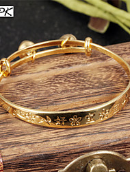 OPK®Children 18 K Gold Bracelet Bell Baby