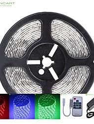5m SMD LED 75w 300x5050 DC12V bande de lumière étanche IP68 + 10KEY rgb de contrôle à distance + 12v 2a alimentation 100-240V