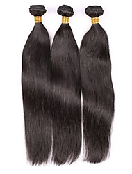 "Grade 7A 10""-30"" 100g/Lot Brazilian Virgin Human Hair Extension Straight Machine Weaving Hair Mega Hair Cabelo Natural"