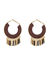 Earring Hoop Earrings Jewelry Women Wedding / Party / Daily / Casual / Sports Alloy / Wood 2pcs
