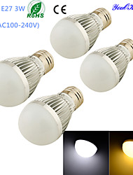Ampoules Globe LED Décorative Blanc Chaud / Blanc Froid YouOKLight 4 pièces B E26/E27 3W 6 SMD 5730 260 LM AC 100-240 V