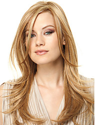Capless High Quality Pretty Medium Straight Blonde Color Synthetic Wig