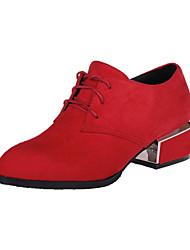 Chaussures Femme - Habillé - Noir / Rouge / Bordeaux - Gros Talon - Talons / Bout Pointu - Talons - Similicuir