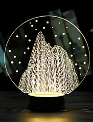 Luminous Christmas Snow Mountain Valentine's Day Gift