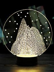 Le cadeau du jour de noël lumineux montagne de neige valentine