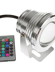 10w 12v Lampe LED piscine étanche spot rgb sous 16 changement coloré avec télécommande IR (or argent noir)