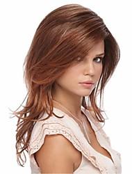 venta caliente largas pelucas de pelo medias rectas marrones claros sintéticos