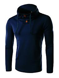 Informell Hemdkragen - Langarm - MEN - T-Shirts ( Baumwolle )