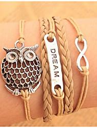 Bracelet Chaînes & Bracelets / Bracelets Wrap / Bracelets Vintage / Bracelets en cuir Alliage / Cuir Chouette InspirationSoirée /