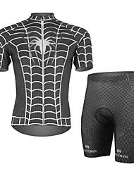 Ciclismo Conjuntos de Roupas/Ternos / Shorts Homens MotoRespirável / Resistente Raios Ultravioleta / Permeável á Humidade / Compressão /
