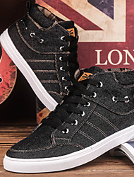 Zapatos de Hombre - Sneakers a la Moda - Casual - Tela - Negro / Azul