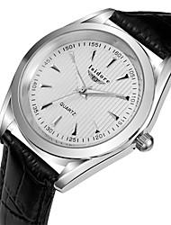 Men's Fashion Casual Genuine Leather Quartz Watches Wrist Watch Cool Watch Unique Watch