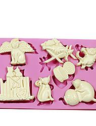 3D Animal Silicone Cat Shape Cake Mold Fondant DIY Cake Decoration Mold