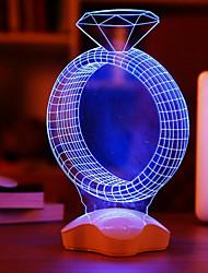 Acrylique transparent 25x10x10cm noël 3 D plaques d'éclat lumineux brillent diamant cadeau nuit lumière lampe LED 1pc