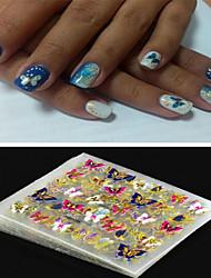4pcs/lot Stiker 3D Butterfly Kecantikan Nail stiker
