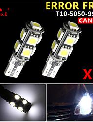 2x canbus coin t10 blanc 192 168 194 W5W 9 5050 LED SMD erreur ampoule lumière 12v gratuitement