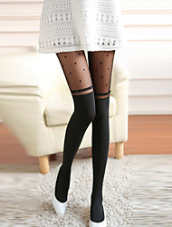 Women's Sexy Love Heart Pattern with Bowknot Tight Pantyhose