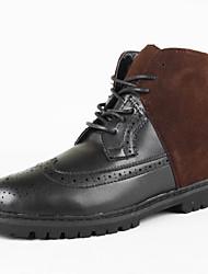 Men's Shoes Casual Leatherette Boots Black / Brown