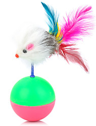 Cats Toys Teaser / Mouse Toy / Feather Toy Tumbler Plastic Multicolor