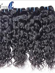необработанный бразильский естественная волна пучки стиль моды девственные волосы 4 пучки бразильский девственные волосы естественная