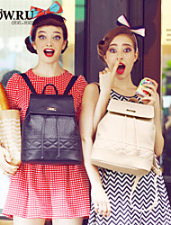 HOWRU® Women 's PU Backpack/Tote Bag/Leisure bag/Travel Bag-Black/Khaki/White