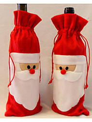 Santa Claus Wine Bag Father Christmas Gift bag Christmas decorations 1PCS