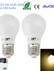 Ampoules Globe LED Décorative Blanc Chaud YouOKLight 2 pièces B E26/E27 5W 10 SMD 5730 420 LM AC 85-265 V