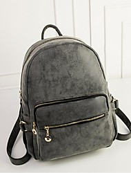 Women PU Casual Backpack Green / Gray