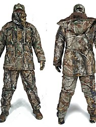 Camouflage Winter Coat Suit , Waterproof Winter Cotton Coat ,Parka Camo Hunting Overcoat Clothing(Top + Trousers)