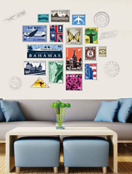 Stylishly Decorated Living Room Bedroom Den Wall Stickers Personalized Stamps