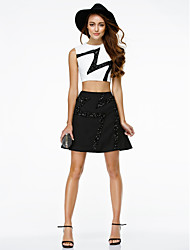 TS Couture® Cocktail Party / Company Party Dress - Two Pieces A-line Jewel Short / Mini Chiffon with Sequins