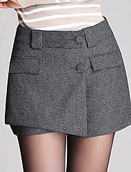 Pantalon Aux femmes Shorts Décontracté / Grandes Tailles Autres Micro-élastique