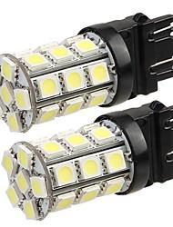 2 * T20 3157 4057 автомобилей хвост резервного копирования поворота лампа 5050SMD чистый белый свет 27 привели 12v