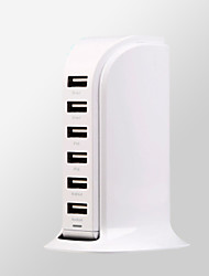 Multi-function porous charging head multi-port USB charger