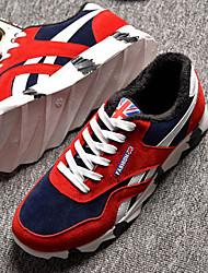 Chaussures Hommes - Bureau & Travail / Décontracté / Sport - Noir / Bleu / Rouge - Synthétique - Baskets à la Mode / Chaussures de Sport