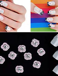 Панк - Стразы для ногтей - 5pcs - 2 - Металл - Пальцы рук