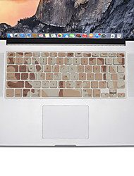 design camouflage peau de couverture de clavier en silicone pour MacBook Air 13,3, MacBook Pro Retina 13 15 17 nous couche