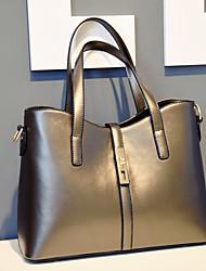 Women PU Baguette Shoulder Bag / Tote - Gold