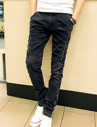 Men Autumn Fashion Classic Jeans Casual Men Jeans Zipper Straight Slim Pants PlusBANT8